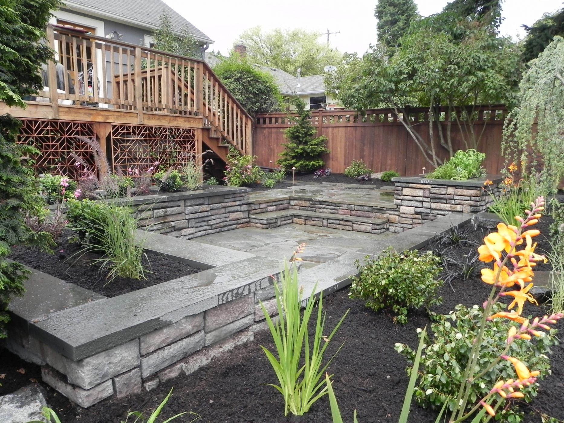 Seattle backyard landscape design and construction Sublime