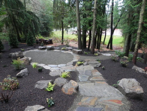 backyard transformation woodland garden in the city sublime