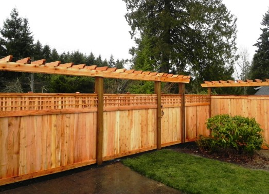 Landscape design for privacy thoughtful solutions for for Fence with arbor