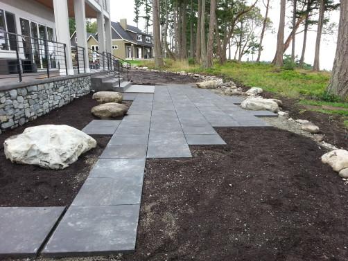 Camano Island, WA - Landscape Design in mid-construction Sublime Garden Design
