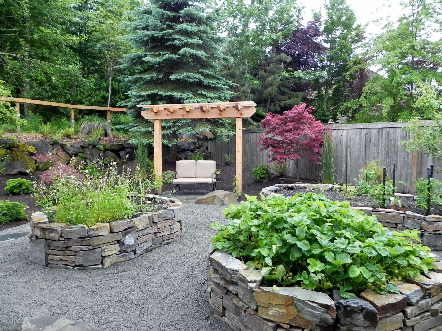 Sammamish raised vegetable beds sublime garden design landscape design landscape - Landscape design for small spaces style ...
