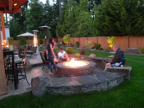 Gathering Around The Fire  Sammamish, WA  Sublime Garden Design