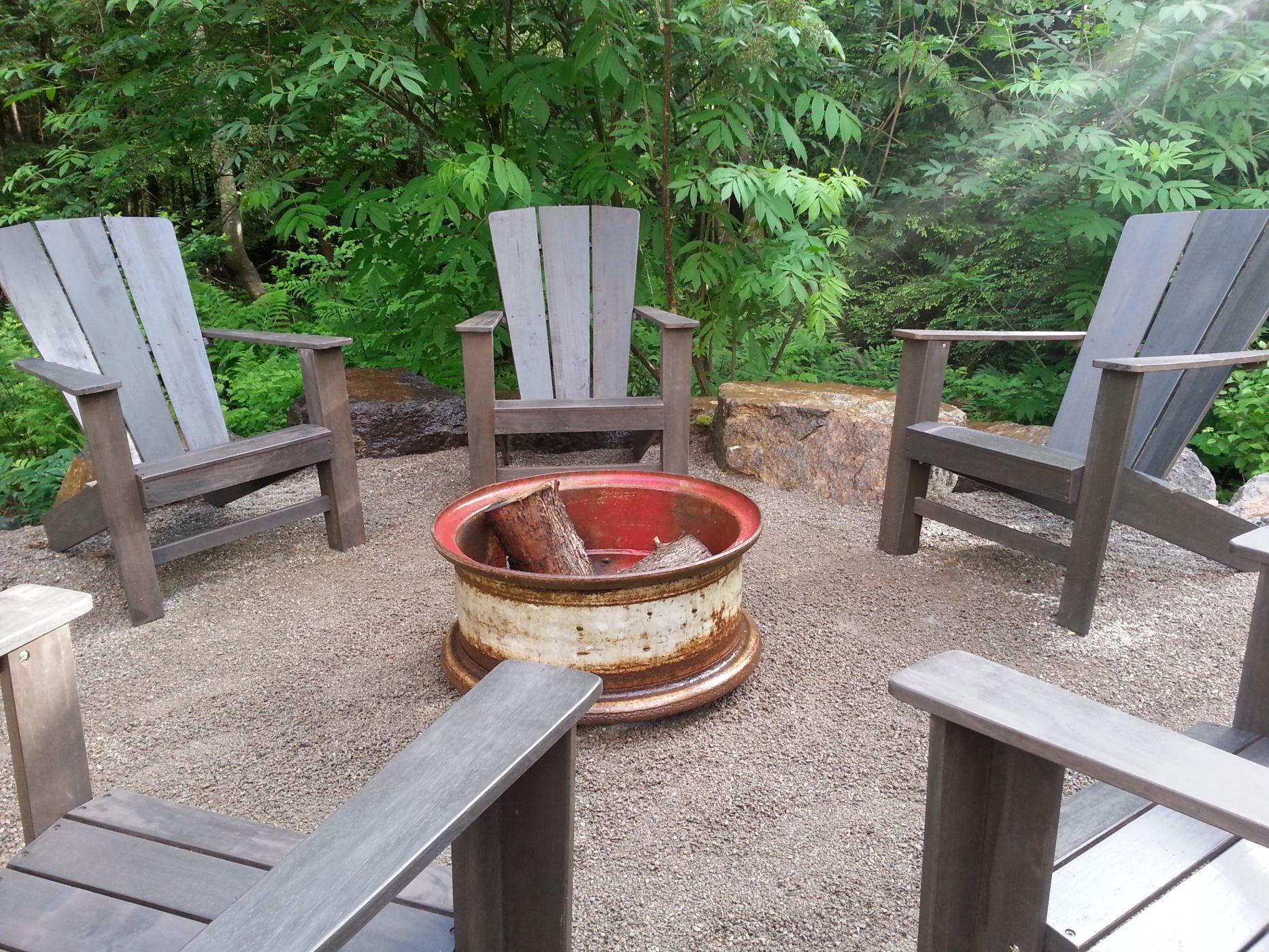 Rustic fire pit Snohomish WA Sublime Garden Design Sublime