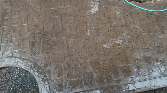 Bothell, WA Stamped concrete after acid washing