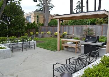 modern concrete patio. Medina Modern Concrete Patio And Planters_Sublime Garden Design After