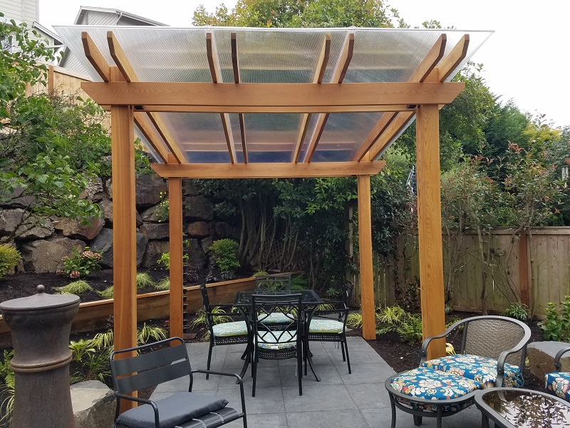 Wood for Garden designs seating areas