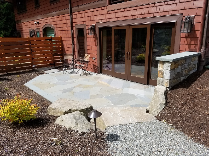 Redmond Mortar Set Bluestone Flagstone Patio by Sublime Garden Design