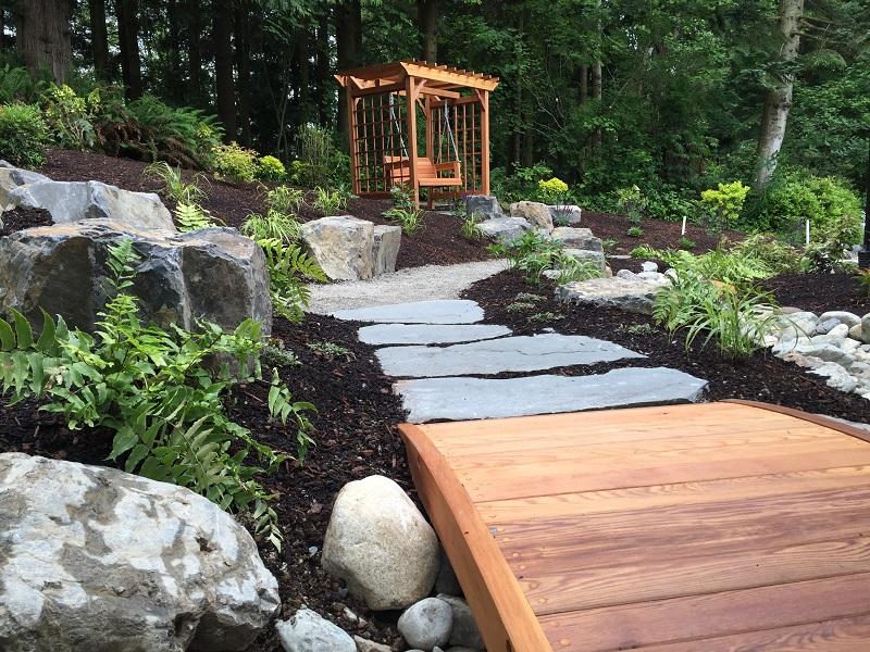 Snohomish Trailhead Cedar Bridge by Sublime Garden Design