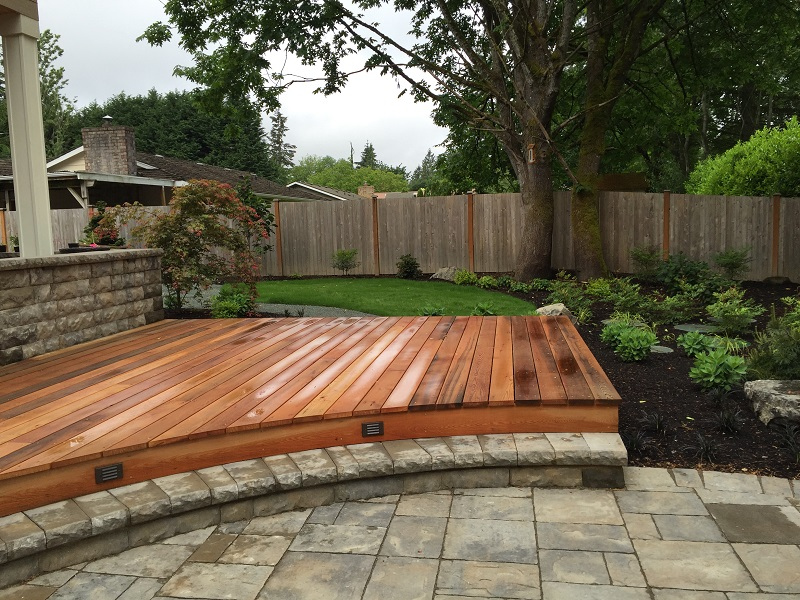 Curved Wood Deck