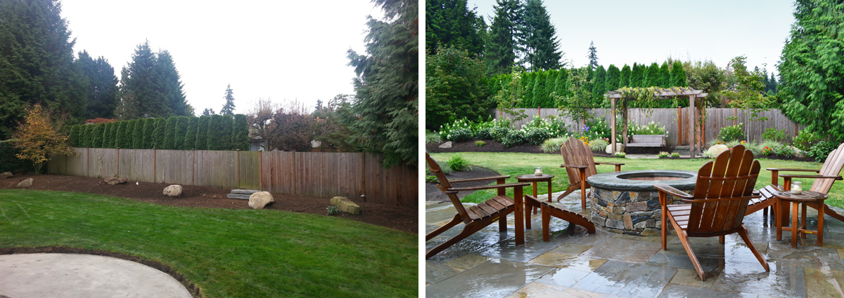 Superieur Before And After In Clyde Hill Washington By Sublime Garden Design 425x1200  1