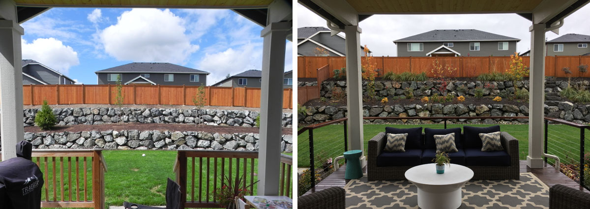 Before and After in Brier Washington by Sublime Garden Design