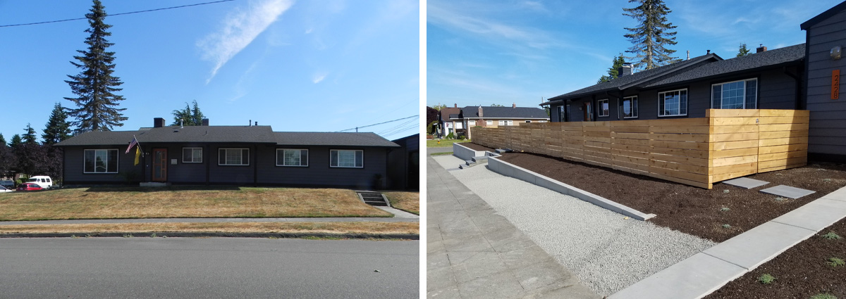 Before and After in Everett Washington by Sublime Garden Design