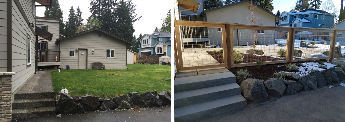 Before and After in Lynnwood Washington by Sublime Garden Design