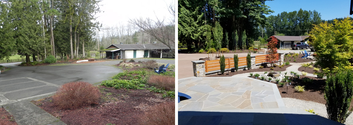 Before and After in Redmond Washington by Sublime Garden Design 2