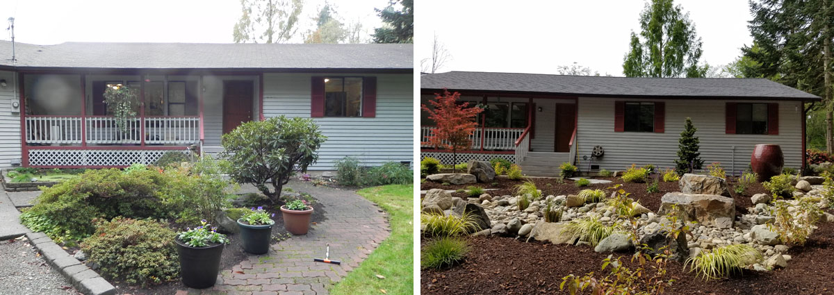 Before and After in Snohomish Washington by Sublime Garden Design 3