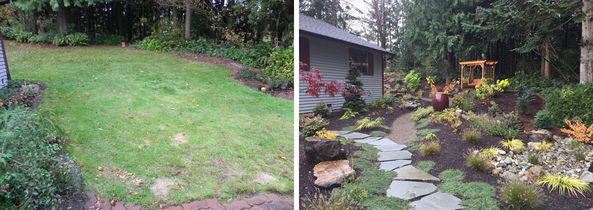 Before and After in Snohomish Washington by Sublime Garden Design 4