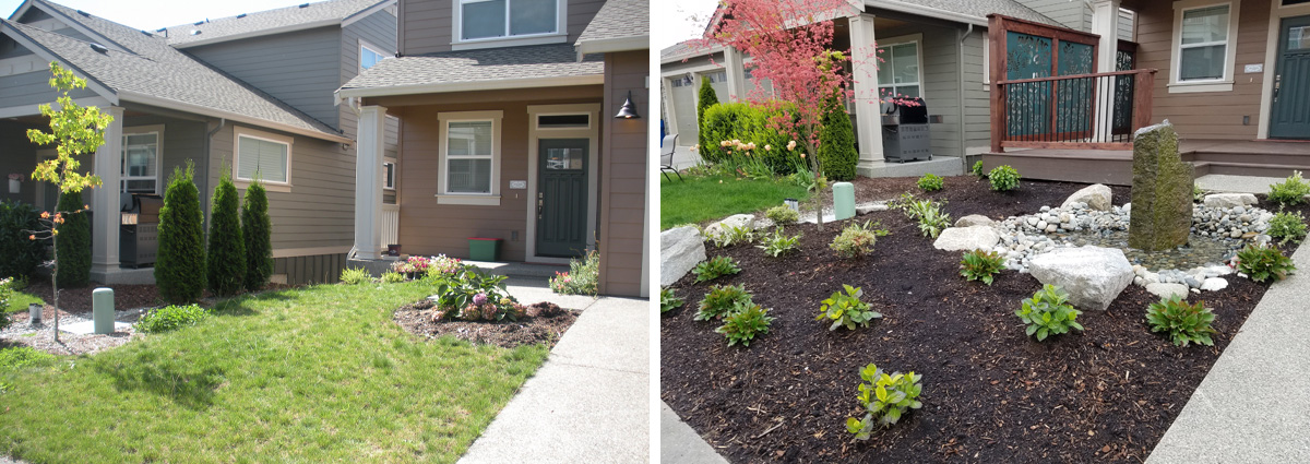 Garden Design Before And After before and after in snohomish washingtonsublime garden design