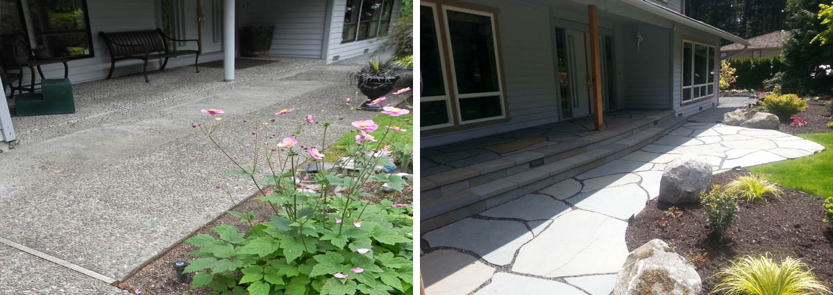 Bothell Before and After by Sublime Garden Design