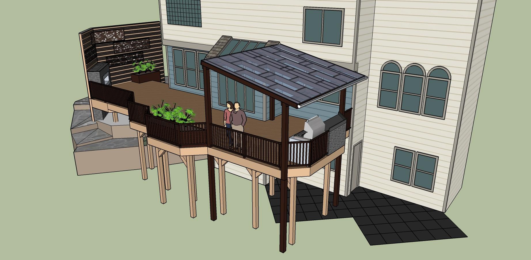 Sublime Garden Design Sammamish Deck 3d Model 4