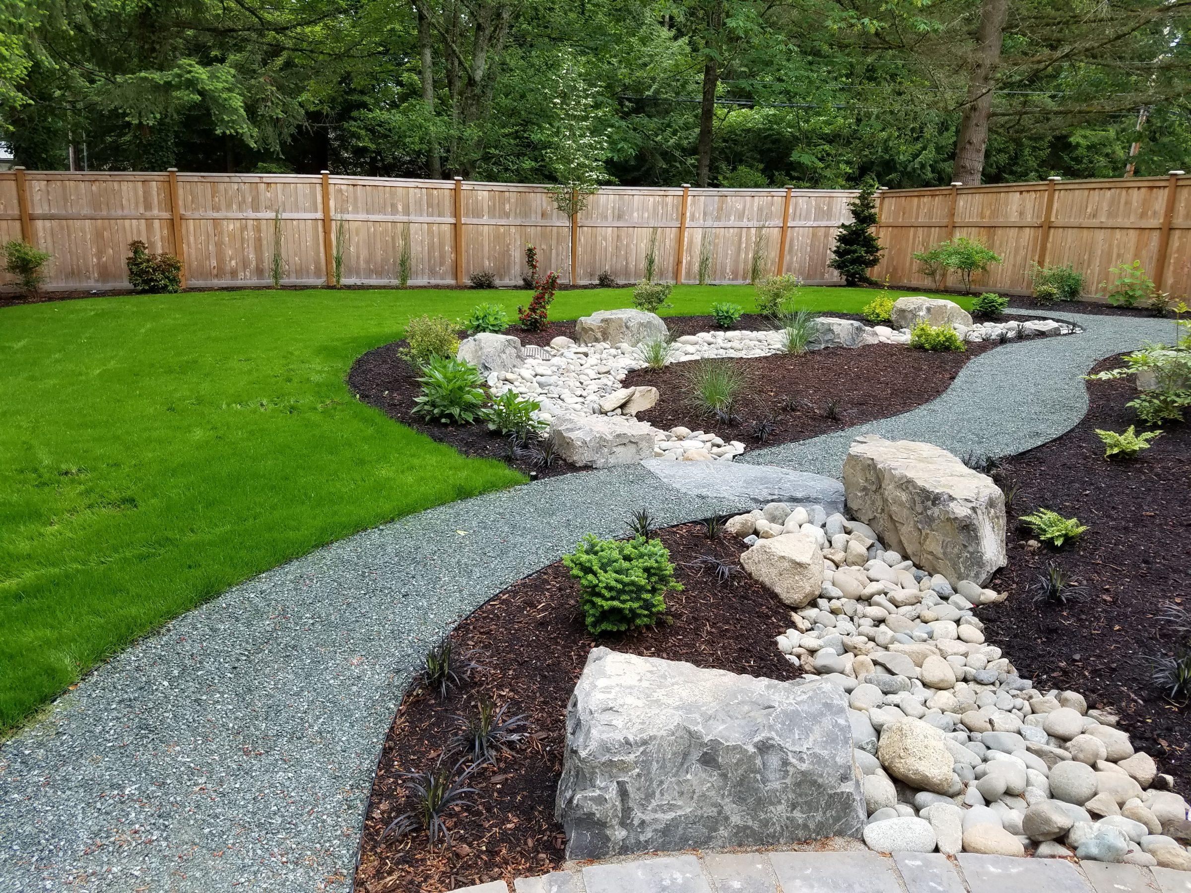 Woodinville Covering A Drain  Sublime Garden Design