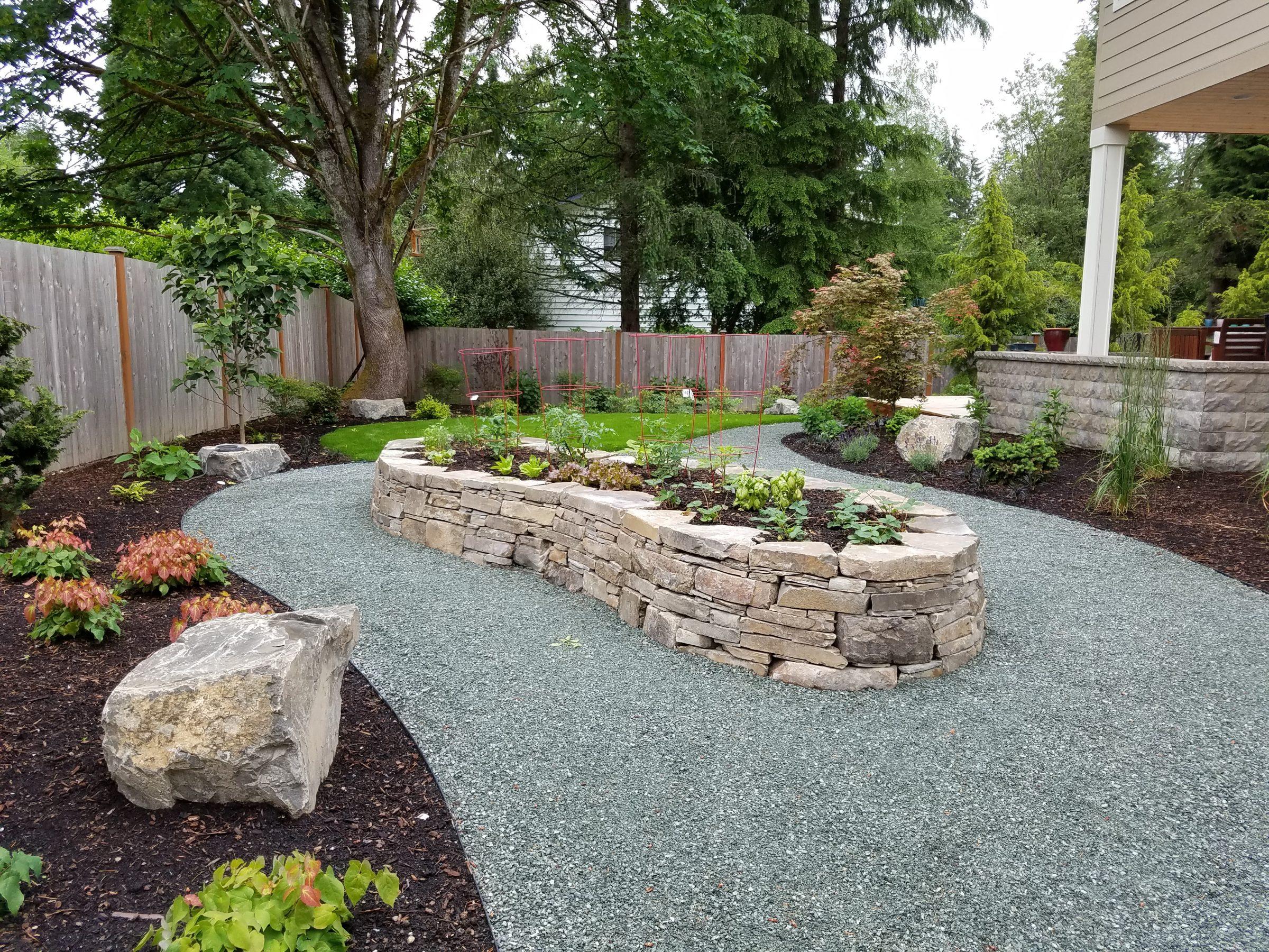 Landscaping Your Side Yard : Woodinville side yard vegetable garden sublime design landscape