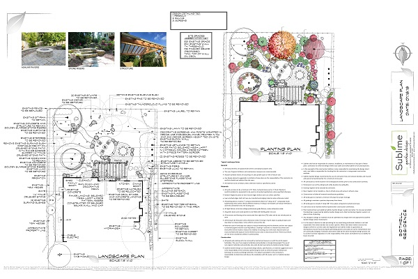 Bothell Residence Final Layout and Planting Plan