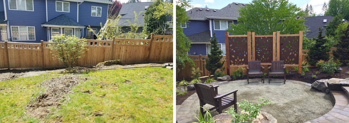 Before and After in Bothell Washington by Sublime Garden Design