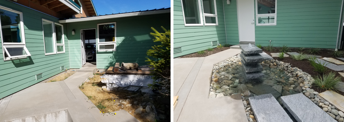 Before and After in Edmonds Washington by Sublime Garden Design