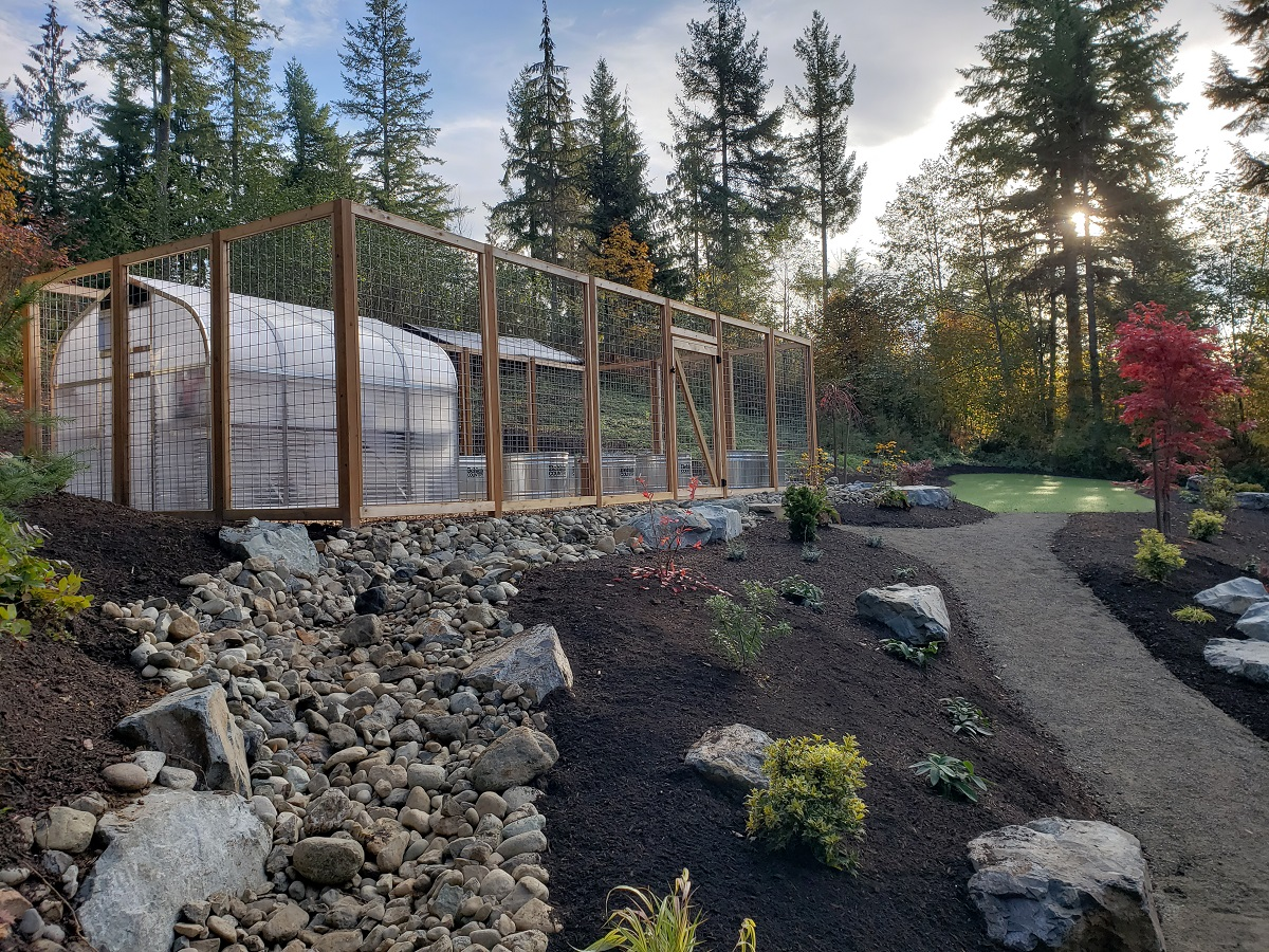 Fenced Garden Area and Greenhouse — Sublime Garden Design ...