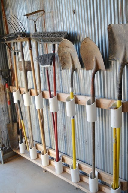 PVC Tool Storage (Photo Courtesy of NewlyWoodwards) )